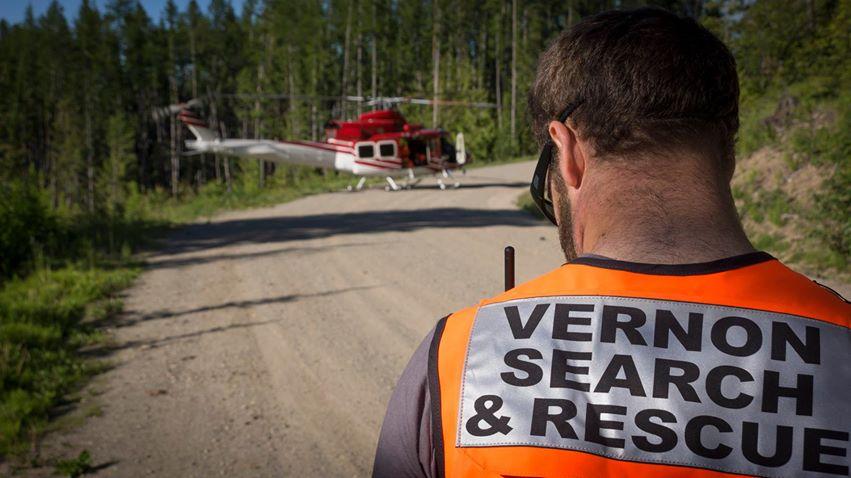 Hanglider rescue - Vernon area
